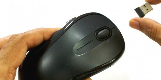 Receiver Mouse Wireless yang hilang